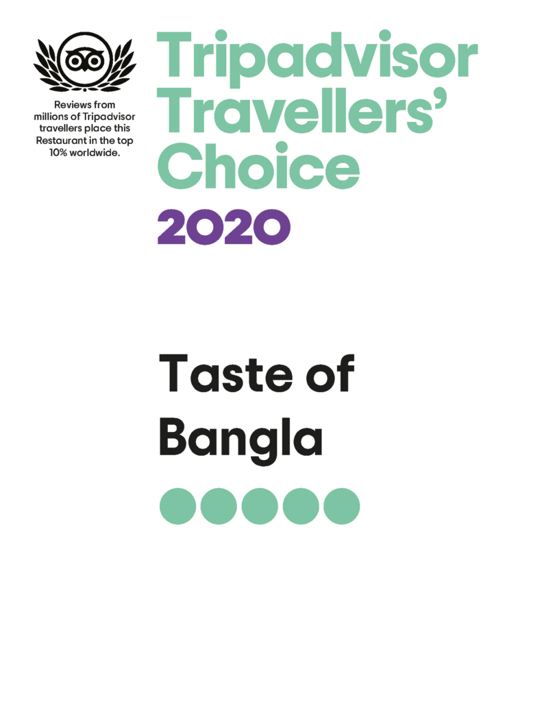 Taste of Bangla traveller's choice 2020